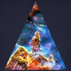 Triangle Mystic Mountain, Carina Nebula, Space, Galaxy, T-shirts - Organic mænd