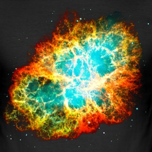 Supernova, Crab Nebula, Space, Galaxy, Milky Way T-shirts - Herre Slim Fit T-Shirt
