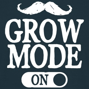 Moustache Grow Mode On Magliette - Maglietta da uomo