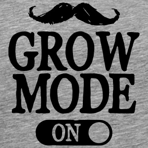 Moustache Grow Mode On T-Shirts - Men's Premium T-Shirt