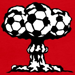 football explosion champignon nucleaire Tee shirts - T-shirt col V Femme
