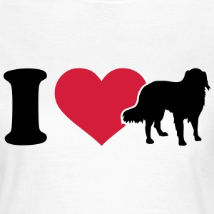 I love australian shepherd T-Shirts - Frauen T-Shirt