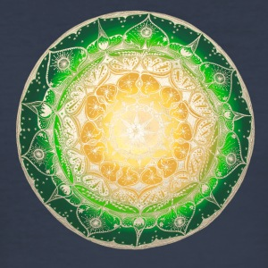 Mandala-T-Shirt Emerald Green - Männer Slim Fit T-Shirt