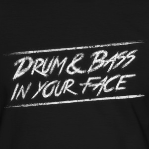 Drum & bass in your face / Party / Rave / Dj T-shirts - Herre kontrast-T-shirt