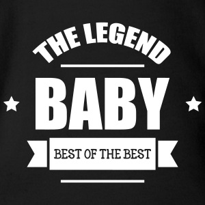 Baby, The Legend T-shirts - Ekologisk kortärmad babybody