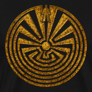 Man in the Maze, Journey through life, I'itoi,  T-shirts - Premium-T-shirt herr