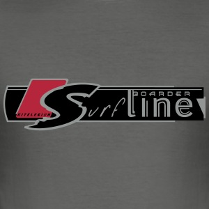 surf line boarder_vec_3 fr Tee shirts - Tee shirt près du corps Homme