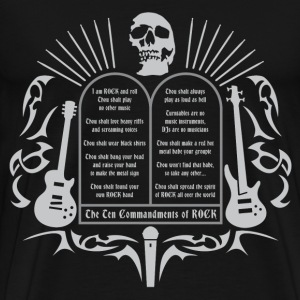 the_10_commandments_of_rock02 T-Shirts - Männer Premium T-Shirt