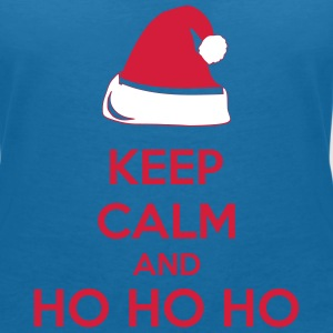 Keep Calm And Ho Ho Ho T-shirts - Dame-T-shirt med V-udskæring