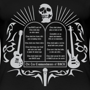 the_10_commandments_of_rock02 T-Shirts - Frauen Premium T-Shirt