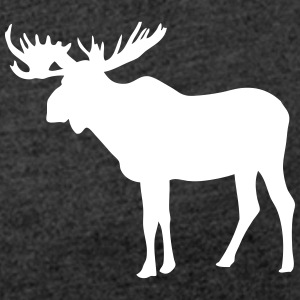 Moose T-Shirts - Women's T-shirt with rolled up sleeves