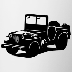 US Jeep Willys  2 - Tasse zweifarbig