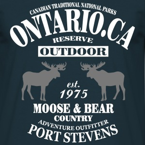 Canada - Moose & Bear Country T-Shirts - Men's T-Shirt
