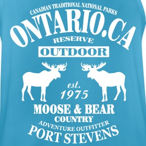 Canada - Moose & Bear Country Sportsklær - Pustende singlet for menn