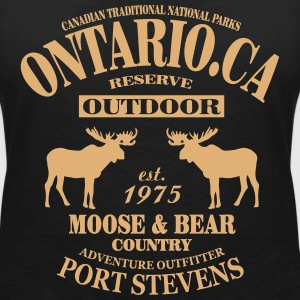 Canada - Moose & Bear Country T-Shirts - Women's V-Neck T-Shirt