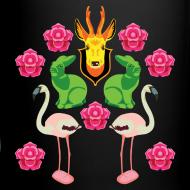 Motiv ~ Rådjur, kaniner och flamingos