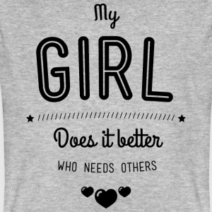 My girl does it better T-shirts - Organic mænd