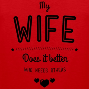 My wife does it better Tank Tops - Herre Premium tanktop