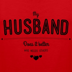 My husband does it better Tank Tops - Herre Premium tanktop