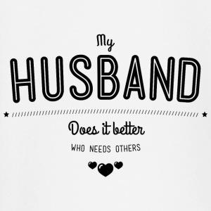 My husband does it better Long Sleeve Shirts - Baby Long Sleeve T-Shirt
