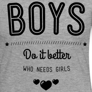 Boys do it better Långärmade T-shirts - Långärmad premium-T-shirt dam