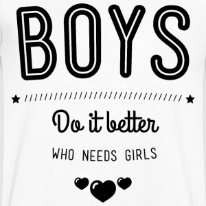 Boys do it better T-skjorter - T-skjorte med V-utsnitt for menn