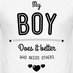 My boy does it better T-shirts - Slim Fit T-shirt herr