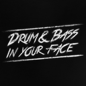 Drum & bass in your face / Party / Rave / Dj Skjorter - Baby-T-skjorte