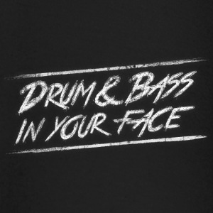 Drum & bass in your face / Party / Rave / Dj Shirts met lange mouwen - T-shirt