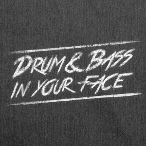 Drum & bass in your face / Party / Rave / Dj Taschen & Rucksäcke - Schultertasche aus Recycling-Material