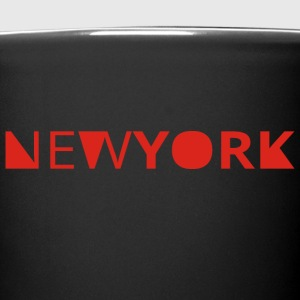 new york - Tasse einfarbig