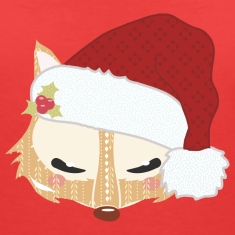 Fox head with santa hat T-Shirts
