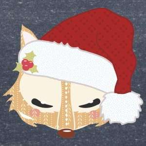 Fox head with santa hat T-Shirts - Women's V-Neck T-Shirt
