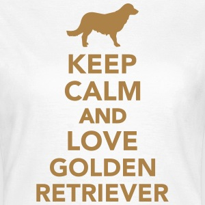 Keep calm and love Golden Retriever T-Shirts - Frauen T-Shirt