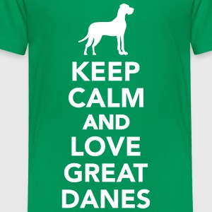 Keep calm and love great danes T-Shirts - Kinder Premium T-Shirt