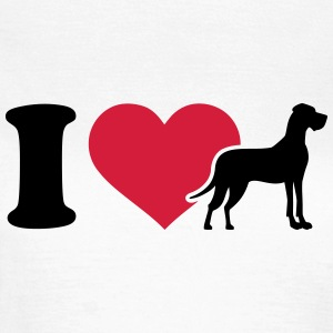 I love Dogge T-Shirts - Frauen T-Shirt