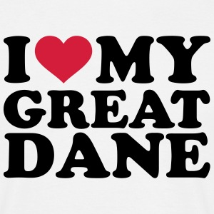 I love my great dane T-Shirts - Männer T-Shirt