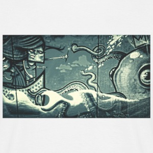 Octopus Fight - Street Art - Men's T-Shirt