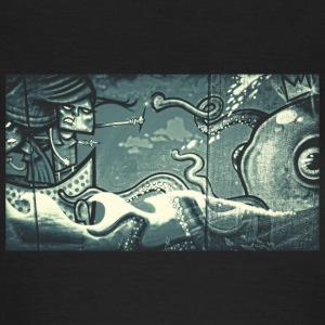 Octopus Fight - Street Art - Women's T-Shirt