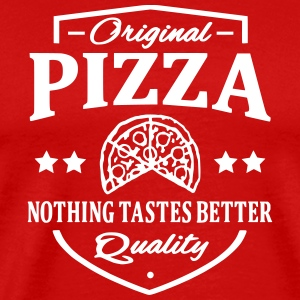 Pizza T-shirts - Herre premium T-shirt