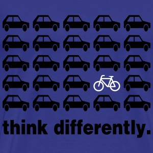 Think Differently: Bicycle T-Shirts - Men's Premium T-Shirt