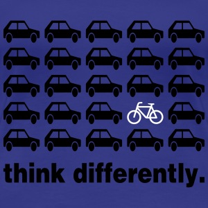 Think Differently: Bicycle T-Shirts - Women's Premium T-Shirt