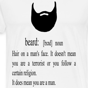 Beard funny dictionary - T-shirt Premium Homme