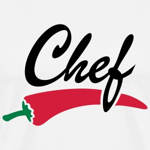 Chili chef-kok koken kok groenten Cook cooking T-shirts - Mannen Premium T-shirt