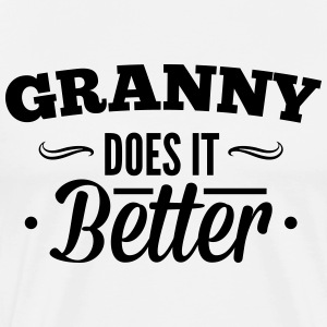 Grandma, Grandma makes it better T-shirts - Mannen Premium T-shirt