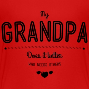 My grandpa does it better Shirts - Kids' Premium T-Shirt