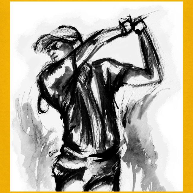 Golf, le swing en aquarelle