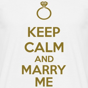 Keep Calm And Marry Me T-skjorter - T-skjorte for menn