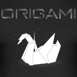 origami cygne noir.png Tee shirts - Tee shirt près du corps Homme