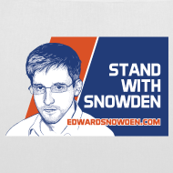 Design ~ Stand with Snowden tote bag